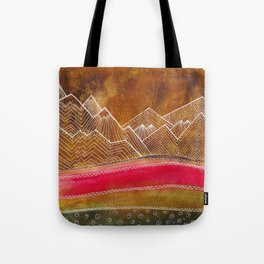 Lines in the mountains 01 Tote Bag