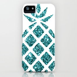 Colorful Pineapples Teal iPhone Case