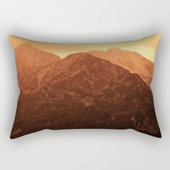 Evening in the mountains Rectangular Pillow