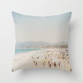 summer time in Santa Monica ... Throw Pillow