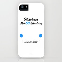 50th Birthday Men Guest Book iPhone Case