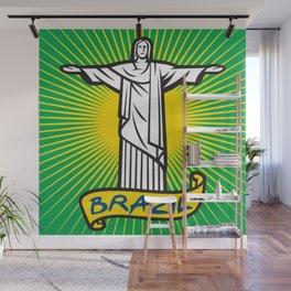 Christ the Redeemer statue in Rio de Janeiro, Brazil Wall Mural