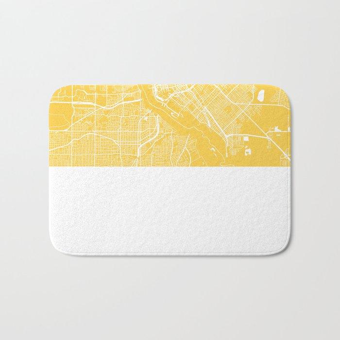 Dallas map yellow Bath Mat