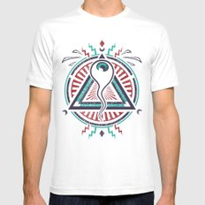 All Seeing All Knowing MEDIUM White Mens Fitted Tee