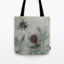 Bee in the Garden (encaustic) Tote Bag