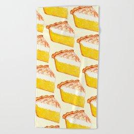 Lemon Meringue Pie Pattern Beach Towel