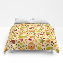 Hedghogs and Chestnuts Comforters