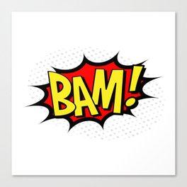 Bam! Kapow! Boom! Canvas Print