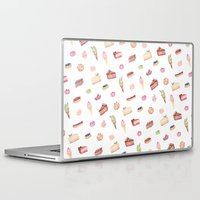 hobbes Laptop & iPad Skins featuring Dessert Time is Every Time by jilln
