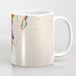 Belize Map in Watercolor Coffee Mug