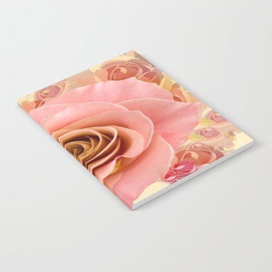 Peach Rose Garden Notebook