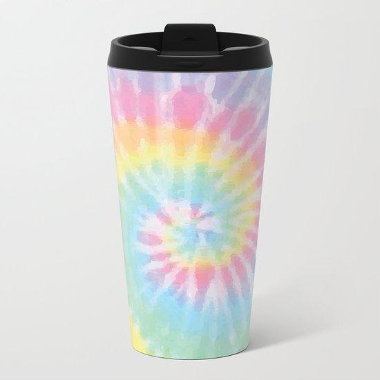 Pastel Tie Dye Metal Travel Mug