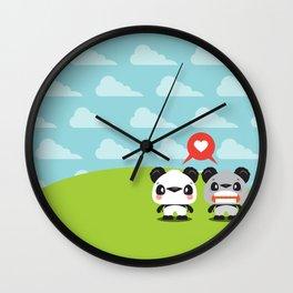 Panda Love Wall Clock