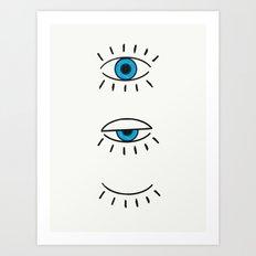 Summer Evil Eyes Art Print