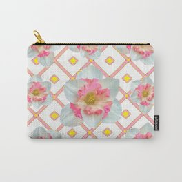 Pink-Yellow Spring Garden Daffodils Carry-All Pouch