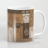 fat Mugs featuring Fat Fat Cafe by Astrobunny