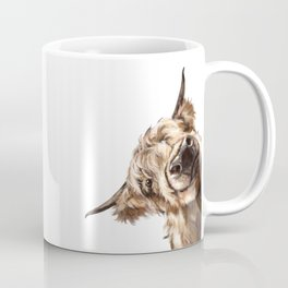 Sneaky Highland Cow Coffee Mug