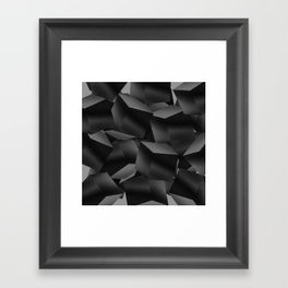 Black Fade Cubes Framed Art Print
