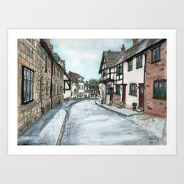 Mill Street North, Warwick U.K. Art Print