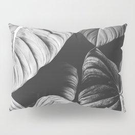 Monstera Black and White Pillow Sham