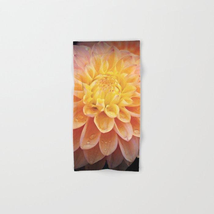 Pretty Pink Yellow Dahlia Hand & Bath Towel