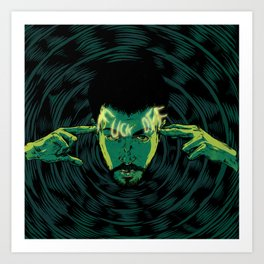 Mind-control powers in good use Art Print