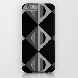 Black & White Geometric Moons & Triangles iPhone Case