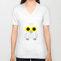 hedwig V-neck T-shirts featuring Hedwig by Jessie Upward