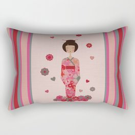 Kokeshi Geisha Japan Rectangular Pillow