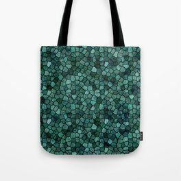 Oceanic Mosaic Crust Texture Abstract Pattern Tote Bag
