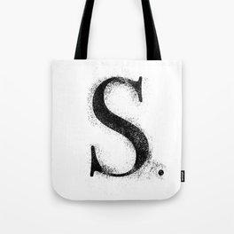 S. - Distressed Initial Tote Bag