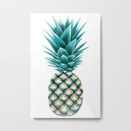 Pineapple Painting. Metal Print