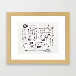 Arrows - B + W Framed Art Print