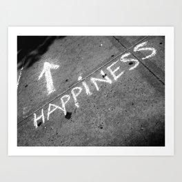 ⬆ Happiness Art Print