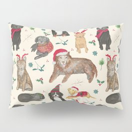 Holiday Dogs Pillow Sham