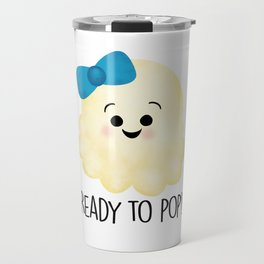 Ready To Pop - Popcorn Blue Bow Travel Mug