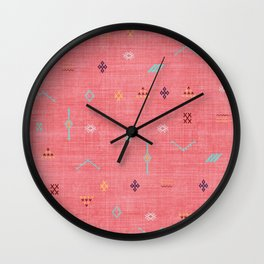 Cactus Silk Pattern in Pink Wall Clock