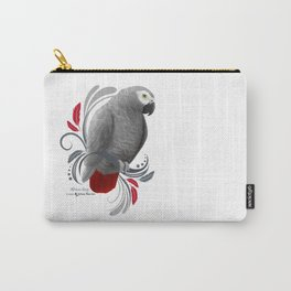 African Grey Carry-All Pouch