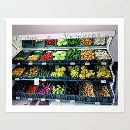 Fruitas & Verduras Art Print