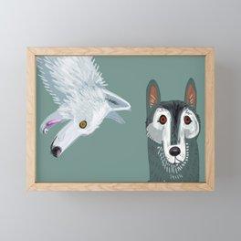 Totem Canadian wolf 2 Framed Mini Art Print