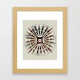 Logo innocence and experience design Framed Art Print