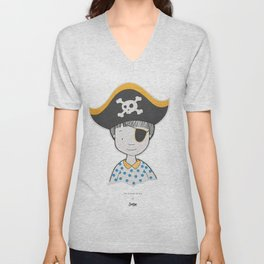 The bravest pirate Unisex V-Neck