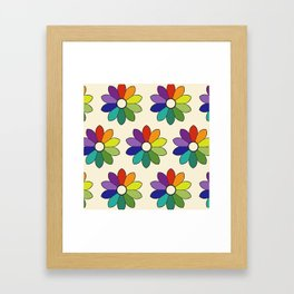 Flower pattern based on James Ward's Chromatic Circle (enhanced) Framed Art Print