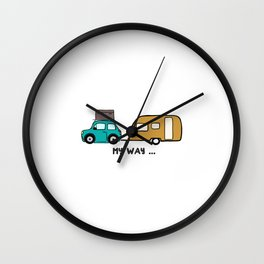 My way - travel with me Wall Clock