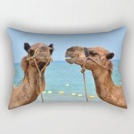 Beach camels Rectangular Pillow