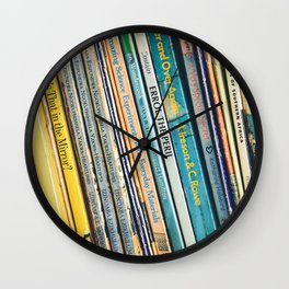 Bookcase books data education Wall Clock