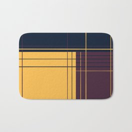 Abstract graphic I Dark blue Purple Yellow Bath Mat