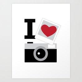 I love camera Art Print