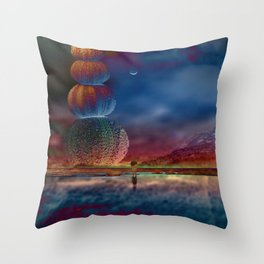 Imaginary landscape III Throw Pillow