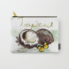Tropical print with coconut Carry-All Pouch
